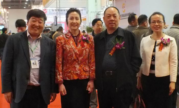 2014年上海设备展销会\豆制品协会会长合影